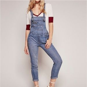 Free people denim overalls